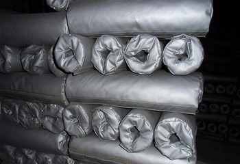 Silicone Coat Fiberglass Fabric Heat Resistant Flexible Duct Insulation Jacket pictures & photos
