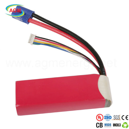 25c Rechargeable 4s1p 14.8V 2000mAh Lithium Battery