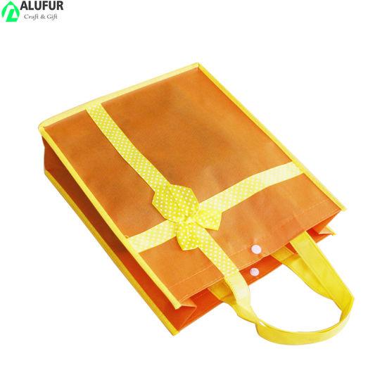 Nonven Bag Packaging Bag with Ribbon Bowknot Decoration