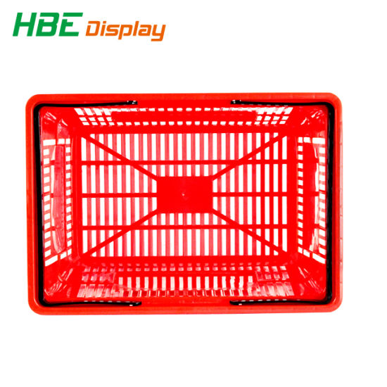 Metal Handle Supermarket Shopping Basket Plastic Basket pictures & photos