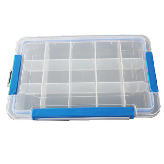 Waterproof Fishing Tool Box Compartments Box Lures Case Hooks Box Storage Box C