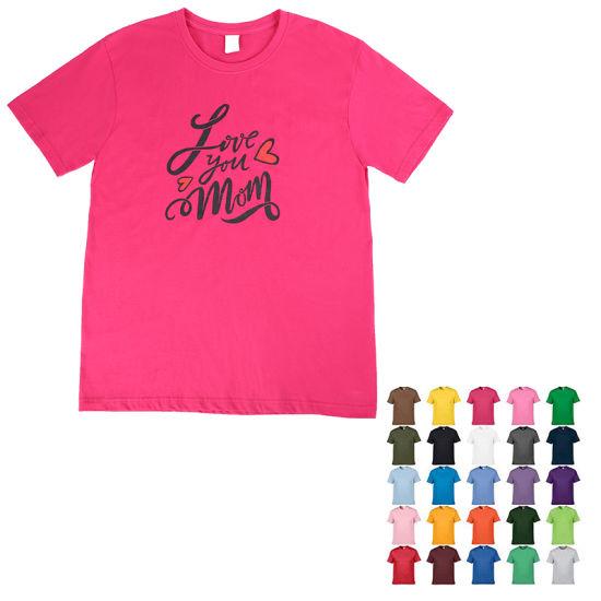 Custom OEM Print 100% Cotton Short Sleeve O Circle Round Neck Women Kids Men Plain Blank Tee T Shirts