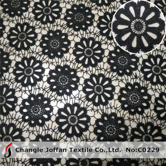 Wholesale Fancy Polyester Chemical Lace Fabric (C0229)