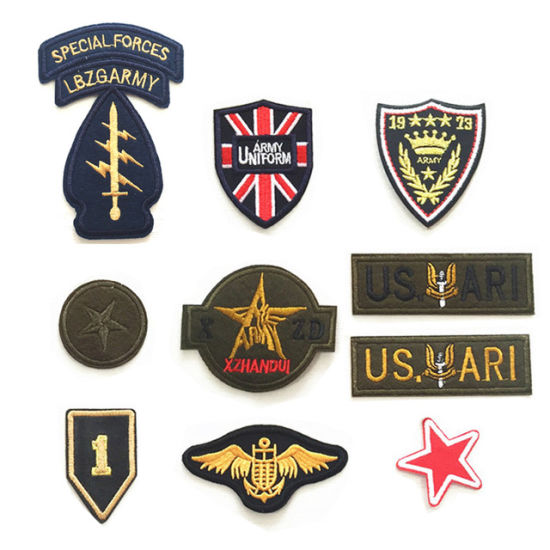 af7aa1fb5905 [Hot Item] High Quality Military Embroidery Patch for Boy Men Clothing  Jeans Jacket Iron on Clothes Army Appliques Badges Fabric DIY (YB-e-036)