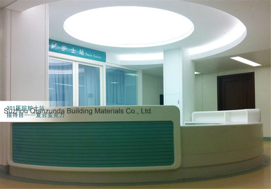 Customized Reception Desk For Hospital Hotel Counter Tops Artificial Stone Table