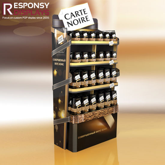 Metal Floor Coffee Can Chocolate Snack Display Stand pictures & photos