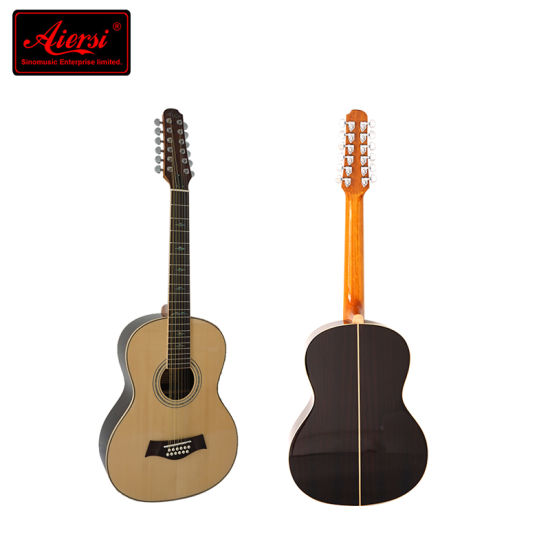 39 Inch Size Solid 12-String Acoustic Guitar pictures & photos
