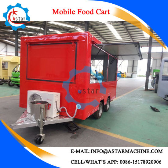 Mobile Kitchen Truck Mobile Steel Food Cart pictures & photos