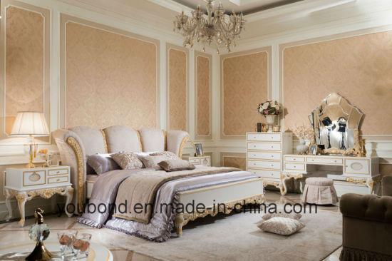 0066 European Antique Bedroom Furniture Solid Wooden Carving Dresser