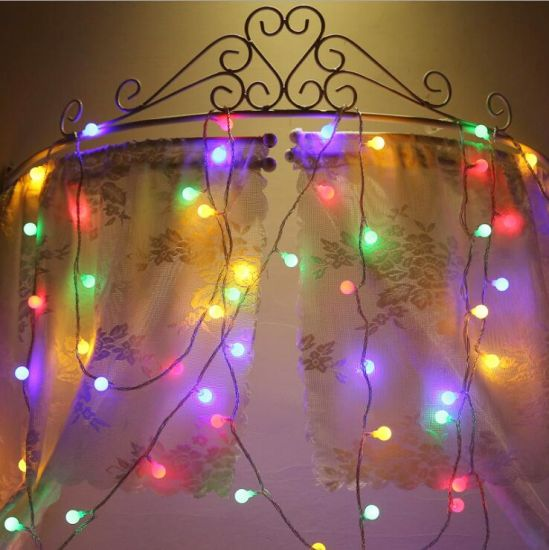 Christmas Decoration Small Round Ball Lamp String Lights pictures & photos