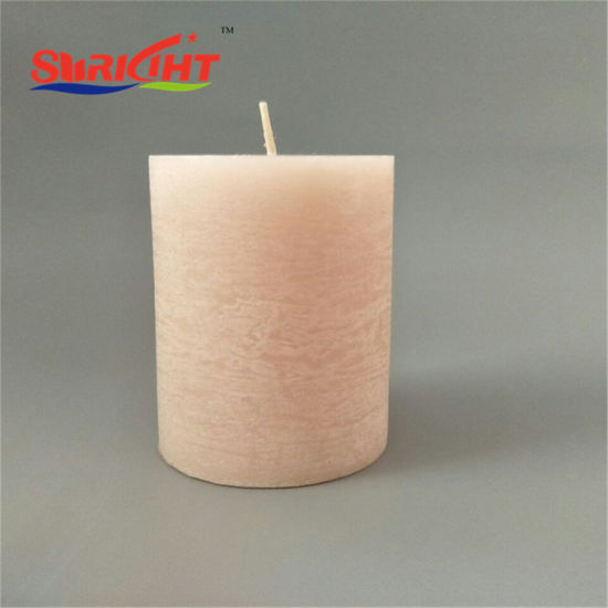 Frosted Pillar Candles Wholesale in Large Bulks