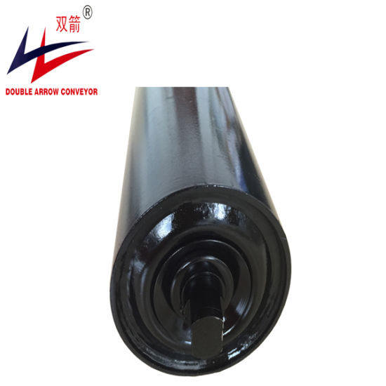 Conveyor Roller, Belt Conveyor Steel Carrying Idler Roller SKF Bearing