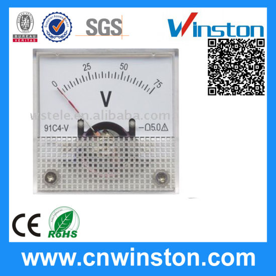 0~75V DC Voltmeter 91c4 Analog Voltage Meter with CE pictures & photos