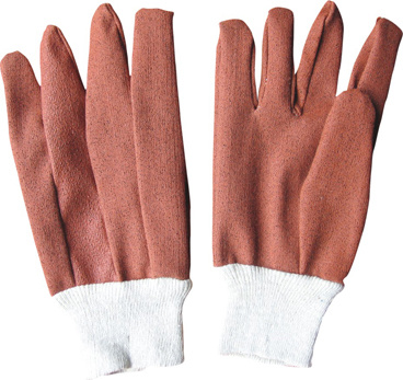 Vinyl Impregnated Clute Pattern Knit Wrist Work Gloves-2712