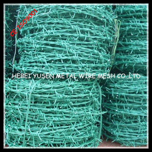 Cheap PVC Coated Barbed Wire Fence pictures & photos
