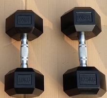 Gym Hex Dumbbell with Colorful