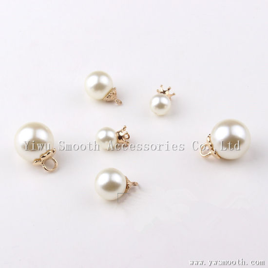 dbcb7a91641 Fashion Round Beads White Plastic Faux Rivet Pearl Brooch Pendant - China  Necklace, DIY Accessories | Made-in-China.com