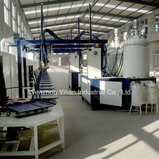 Conveyor Type Automatic Low Pressure PU Pouring Machine with AC Drive Control for Shoe Sole Making