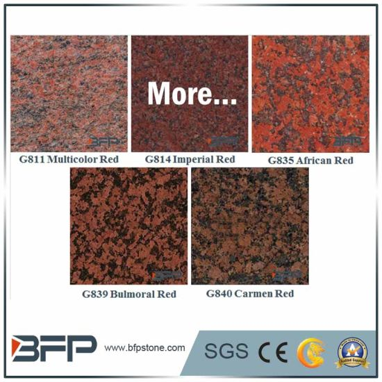 Flooring Stone Tile Granite for Red Color Popular Use in Floor/Bathroom Wall/Stair/Kitchen Countertop pictures & photos