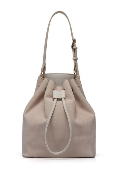 Ladies PU Drawstring Bucket Bag Leisure Bag BSCI Factory pictures & photos