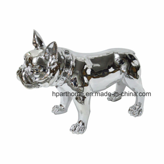 Home Decorative Handmade Resin Christmas Bulldog Crafts, Wholesale Resin Crafts