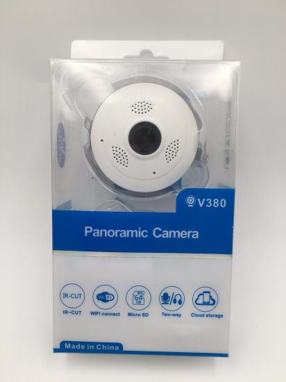 Indoor IR Night Vision 360 Degree Fisheye Lens 3D Vr IP Camera Wide Angle Smart Home CCTV Camera with TF Card Slot Support Mobile Phone Remote 1.0/ 2.0/3.0MP