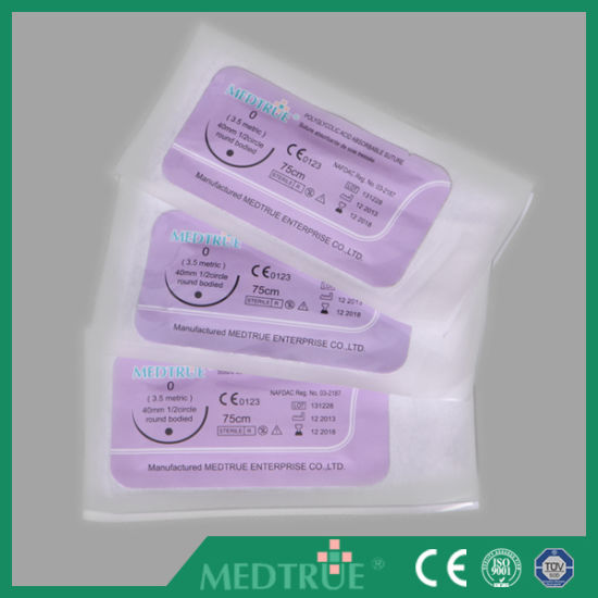 High Quality Disposable Surgical Suture with CE&ISO Certification (MT580H0710) pictures & photos