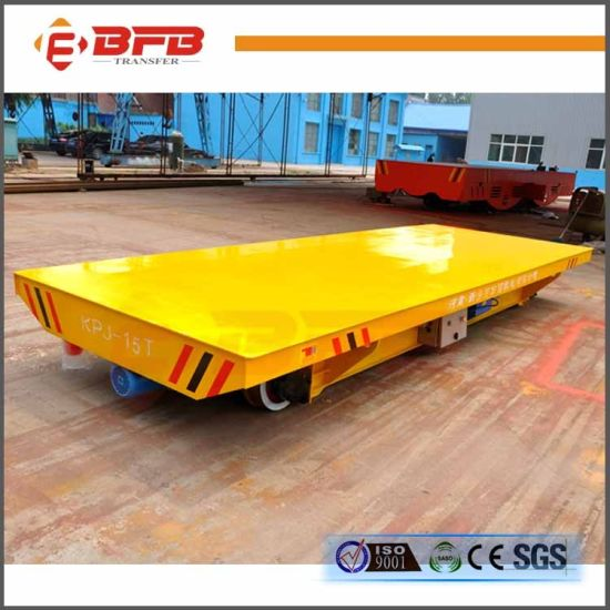 20t Pharmaceutical Plant Electric Flat Car for Transfer on Rails pictures & photos
