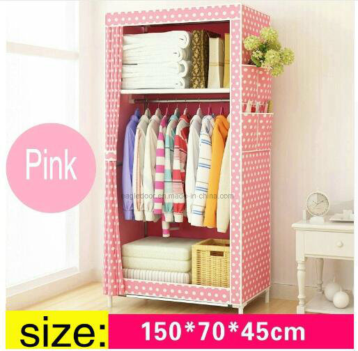 China Simple Cloth Wardrobe Baby Storage Cabinets Folding Steel ...
