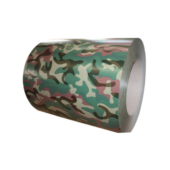 Camouflage Print Color Coated Coil Galvanized Steel PPGI Steel Coil