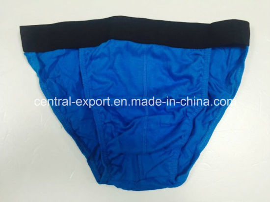 New Style Solid Cotton Men′s Brief Underwear pictures & photos