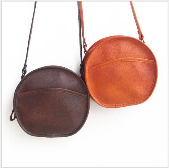 China Fashion PU Leather Women Round Fringe Handbag - China Fashion ...