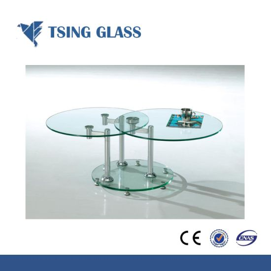 8mm Clear Tempered Glass Toughened Glass With Round Edges For Table Top