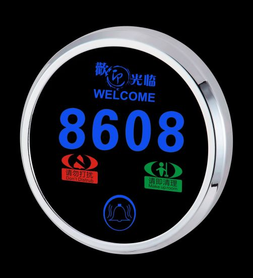 Electronic Hotel Doorplate with LED Room Number Sign and Doorbell pictures & photos