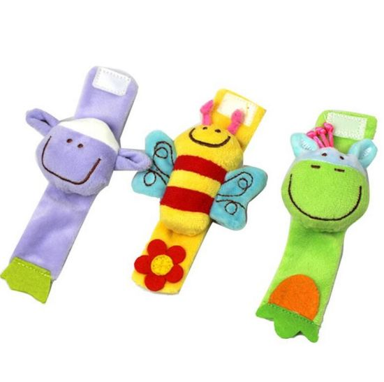 New Design Soft Animal Toy Safe Toy Hand Rattle for Baby