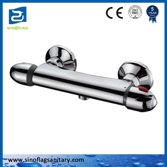 High Quality in-Wall Bath Shower Thermostatic Faucet with Diverter