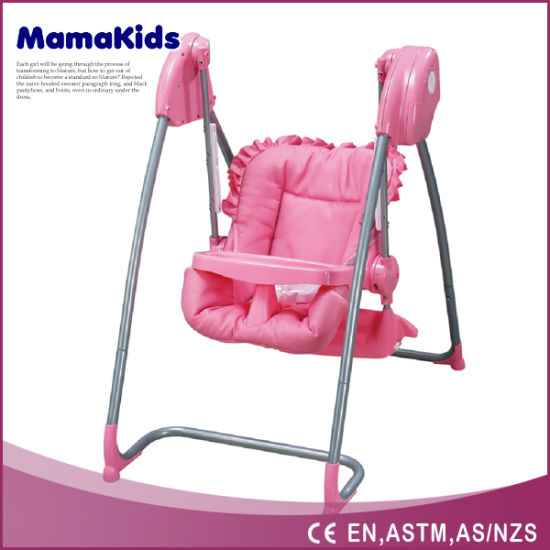 2 In 1 Baby High Chair And Baby Swing With En14988 In Pink