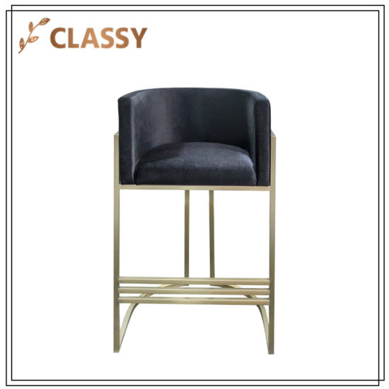 Pleasant China Stainless Steel Dining Furniture Bar Chair With Foot Machost Co Dining Chair Design Ideas Machostcouk