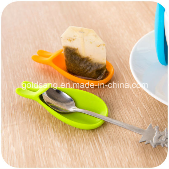 Cute Rabbit Hang Tea Bags Silicone Tea Bag Mat pictures & photos