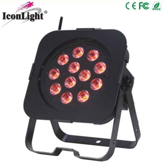 12X5w 4in1 RGBW LED Flat PAR Light with Battery Powered pictures & photos
