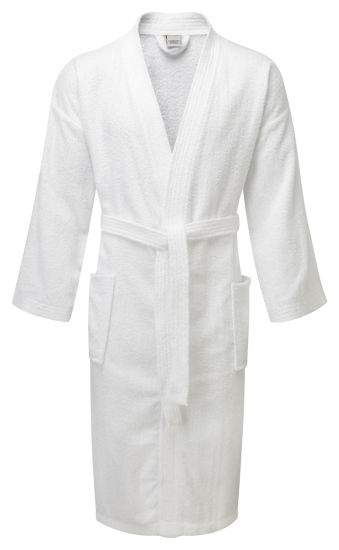 White Color Fleece Material Hotel Bathrobe for 5star Hotel Bathroom to England pictures & photos