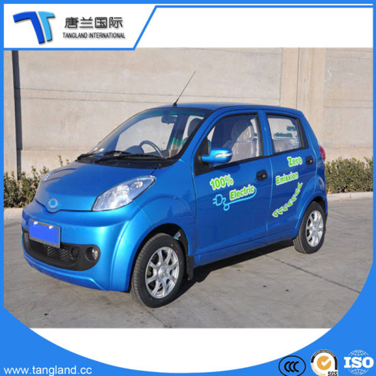 Chinese Mini Electric Car With Electric Window 4 Seater Adult Motor