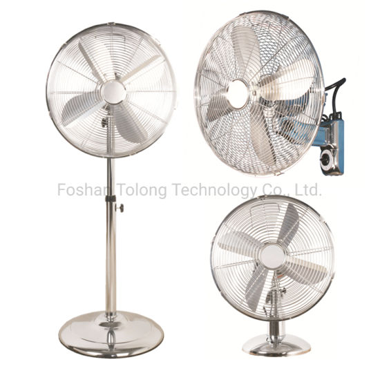 Hot Sale for Euro 16 Inch Powerful Metal Fancy Stand Chrome Fan
