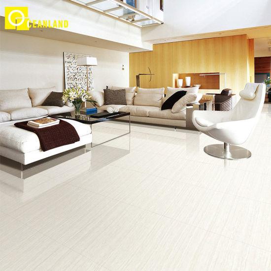24x24 High Gloss White Living Room Porcelain Floor