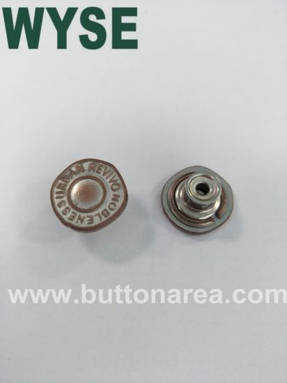 Alloy Moveable Jeans Button for Garments