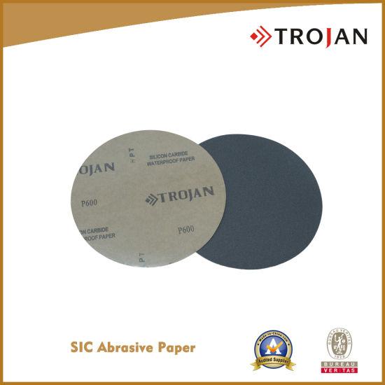 Silicon Carbide Abrasive Paper with Plain Back/Psa