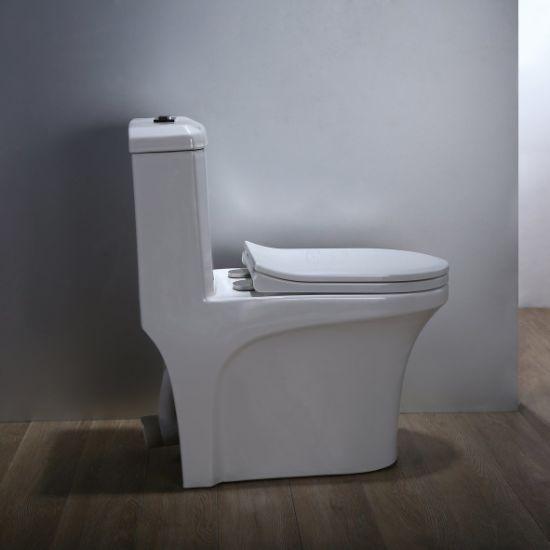 Sanitary Ware Bathroom Ceramic Wc P Trap Water Closet Closestool Accessories One Piece S Toilet 5