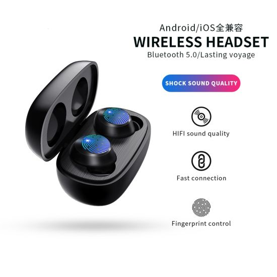 Bluetooth Earphone Headphone Earbud Headset with Touch Control