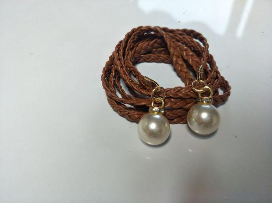 Wholesale PU Braided Tassel Beads Ethnic Belt Women′ S Dress