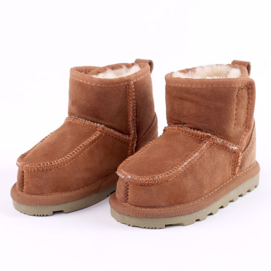 Children's Wool Toddler Shoes Real Wool Integrated Shoes Wool Winter Warm Children's Snowshoes Boots